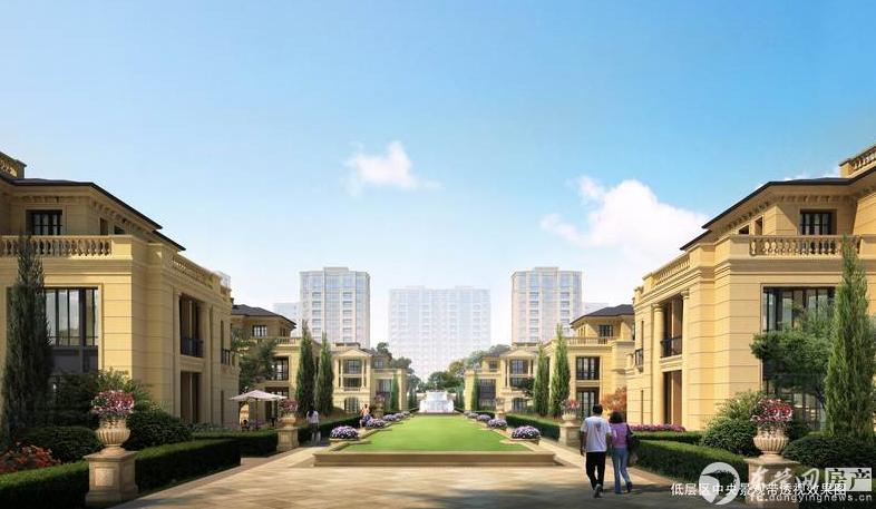 低层区中央景观带透视效果图 项目依园而筑,邻水而居。园林景观环绕项目周边,规划中的大型湿地公园位于项目南侧,森林公园、植物园、动物园、广利河湿地公园等5-20分钟步行可达。 长安泰美御苑项目占地面积400余亩,物业类型涵盖了酒店、文化会议中心、欧式风情商业街区、绿色生态商务墅馆、联排别墅、双拼别墅、高层住宅等。